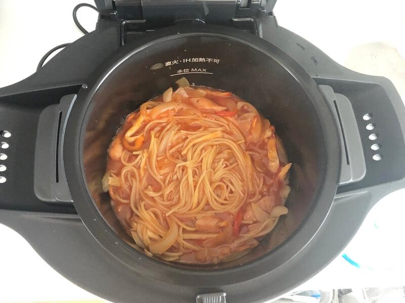 パスタも簡単自動調理