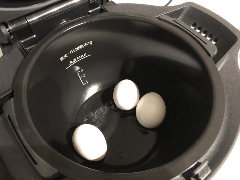 たった100mlでゆで卵