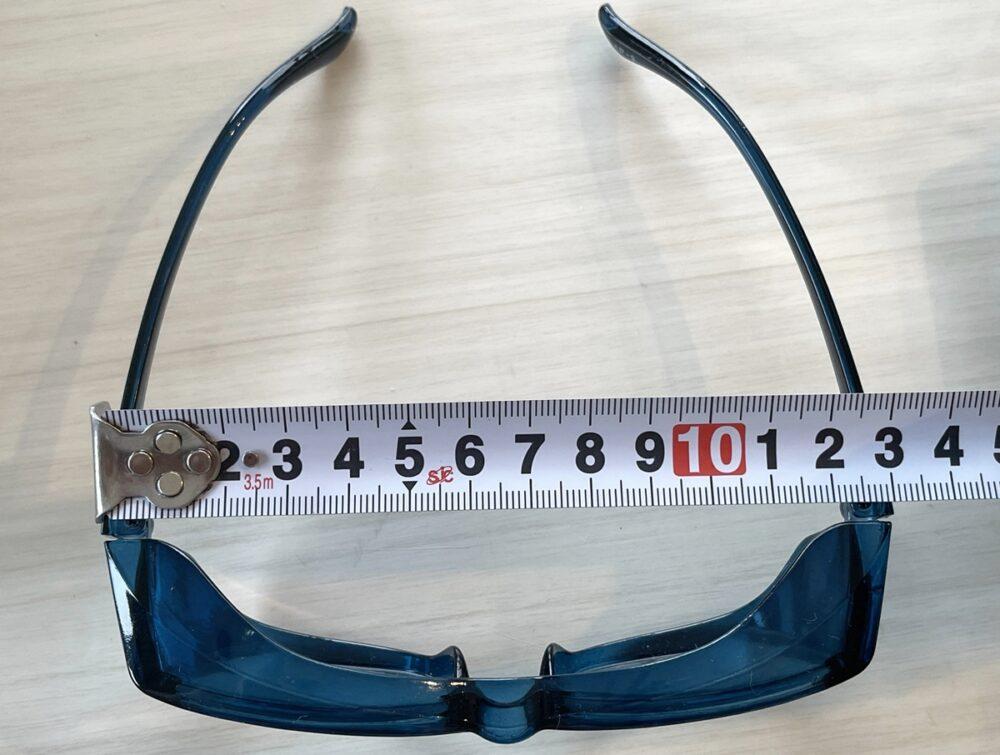 子供 花粉症メガネ 100均 大きさ