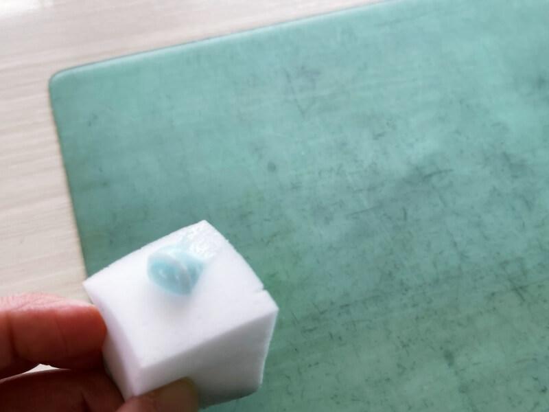 ソフト下敷き メラミンスポンジ 歯磨き粉