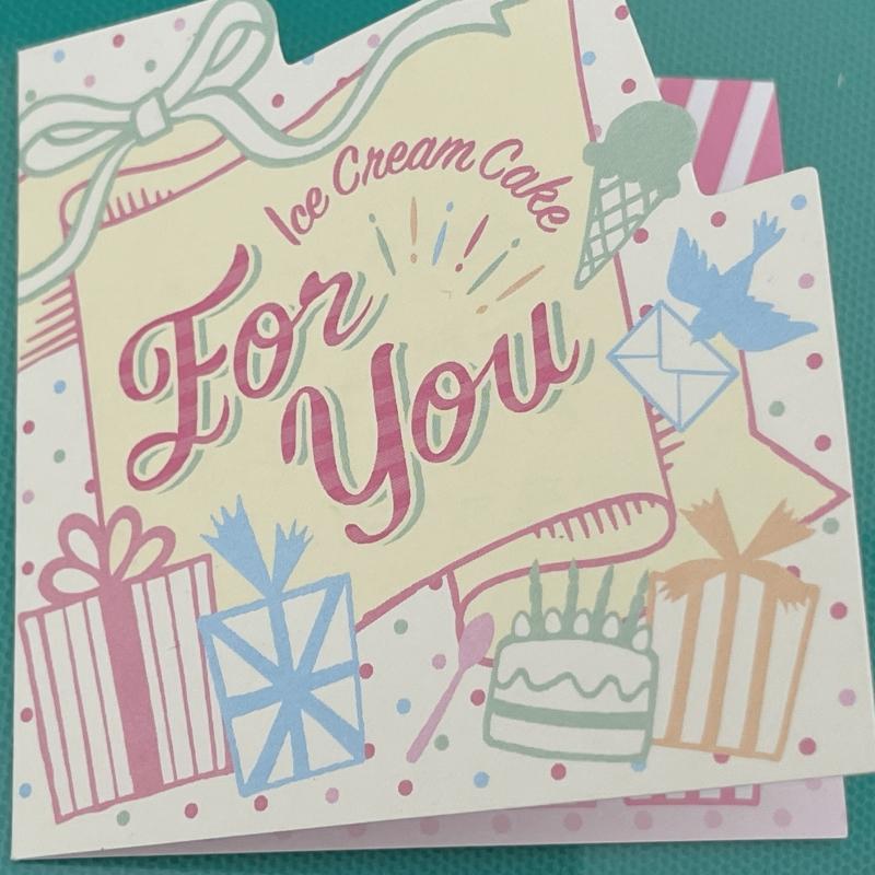 31デコケーキ メッセージカード